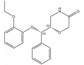 [metabolites] (6S)-6-[(S)-(2-ethoxyphenoxy)phenylmethyl]-3-Morpholinone