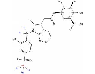 [stable-labeled-standards] [13C,2H5]-Fevipiprant acylglucuronide
