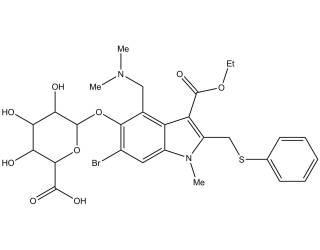 [metabolites] Umifenovir Glucuronide